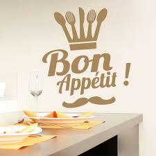 autocollant cuisine stickers muraux bon appetit autocollant citation autocollant