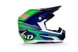 green motocross gear 6d helmet hornet green