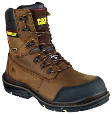cat doffer safety boot brown standard safety boots mens safety