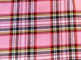 pink tartan polyester tartan suiting 9 colour options fabric land