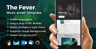 fever music email template builder access by eeemon themeforest