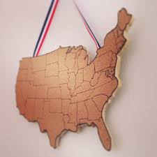 Visited States Map United States Corkboard Map Usa Cork Map Pin Board Gifts For