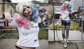 diy harley quinn costume squad margot robbie youtube