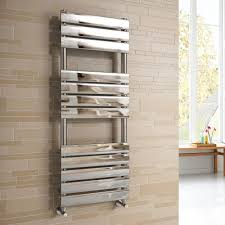 bathroom adjustable heated towel bar in chrome finish for