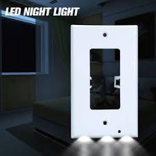 receptacle cover night light 15 pack 110v plug cover sensor led night light bathroom light