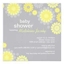 yellow and gray baby shower baby shower invitation yellow gray delight zazzle
