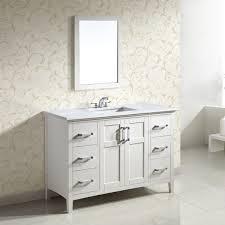 WYNDENHALL Salem White Door Inch Bath Vanity Set With White - White 48 inch bath vanity