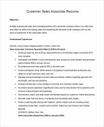 retail sales associate resume samples clothing store sales