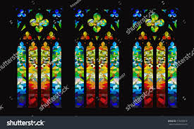 stained glass window vector gothic stainedglass window design stock vector 718495816