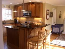 rolling kitchen island with seating with ceramic wall design also