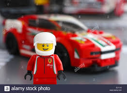 lego speed champions ferrari tambov russian federation march 18 2015 lego ferrari driver