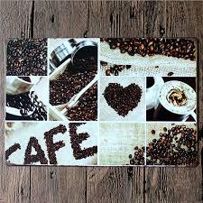 coffee menu vintage tin sign bar pub cafe home wall decor retro