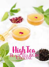 high tea black tea u0026 gin cocktail recipe with vermouth