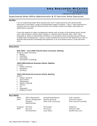 cv template office word sample resume templates for administration