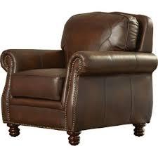 Blue Leather Armchair Leather Chairs You U0027ll Love Wayfair