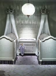 entrancing image of twin vintage baby nursery room decoration