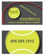 business cards tennis pro at minted