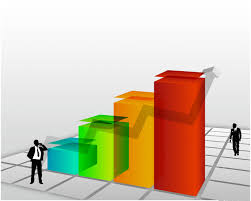 3d templates for powerpoint 3d rising chart backgrounds for presentation ppt backgrounds