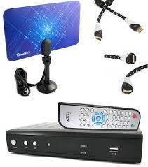 amazon com iview hdtv 3500stb dtv converter box bundle flat