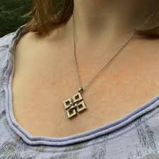 small necklace designs images Diamond shaped infinity love warrior or wiccan necklace loralyn jpg