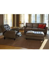 martha stewart bradyn leather sofa collection created for macy u0027s