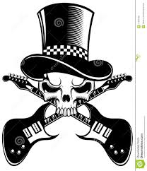 skull and guitars royalty free stock photos image 11564168