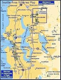 seattle map maps page washington s seattle area wineries