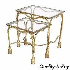 Vintage Table Ls Pair Vintage Italian Regency Gilt Metal Rope Tassel
