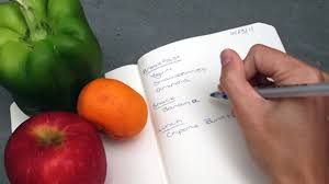 keep a daily food diary to track your diet and build healthy