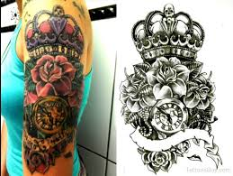 rose flower and crown tattoo design tattoo designs tattoo pictures