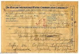 how do you send a telegram titanic survivor s historic telegram sent 4 days after it sunk up