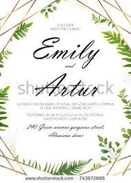 wedding floral invitation invite flower card stock vector