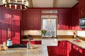 Red Kitchen Pics - these 6 jewel tones are making kitchens shine