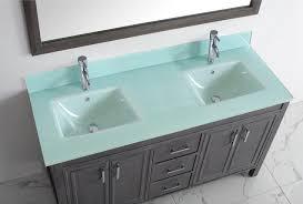 Gray Vanity Top Studio Bathe Corniche 60 Inch Double Bathroom Vanity French Gray