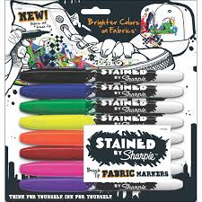 How To Decorate A Backpack With Sharpie Amazon Com Sharpie Stained Fabric Markers Brush Tip Assorted