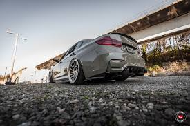 slammed ferrari grigio medio bmw m3 slammed on vossen wheels