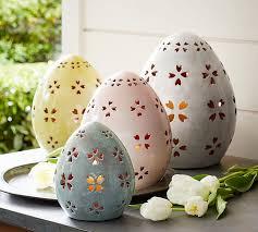 pierced ceramic eggs pottery barn