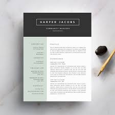 Best Resume And Cover Letter Templates by Modern Resume Template And Cover Letter Template For Word