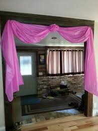 tablecloths decoration ideas use 1 plastic tablecloths to decorate doorways and windows for