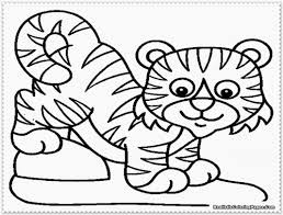 tiger coloring pages the sun flower pages
