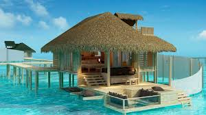 House Over Water Overwater Bungalows In The Olhuveli Island Maldives Wallpaper