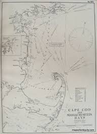 Boston Harbor Map by Antique Maps And Charts U2013 Original Vintage Rare Historical