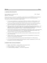 Resume For Job Template Sample Resumes For It Jobs Cbshow Co