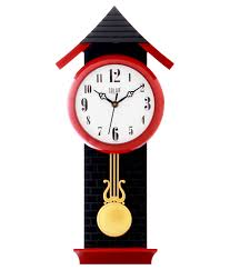 Buy Clock by Black And Red Wall Clock