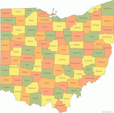 Ohio On The Map by Ohio Us Courthouses