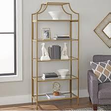 Gold Bookcase Better Homes And Gardens Nola Bookcase Gold Finish Walmart Com