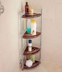 trendy teak corner shower caddy u2014 the decoras