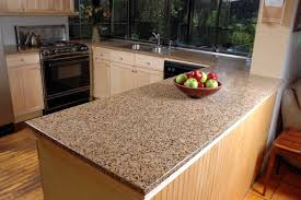 granite and wood combination for kitchen counter backsplash also