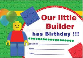 lego birthday invitation stock illustration image of children