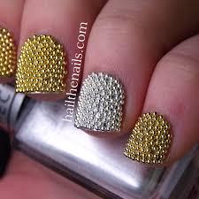 edgy micro bead nail design youtube nail art caviar beads green